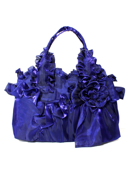 Milanoo Classic Lolita Torte Bag Flower Bow Ruffle Victorian Style Lolita Bag