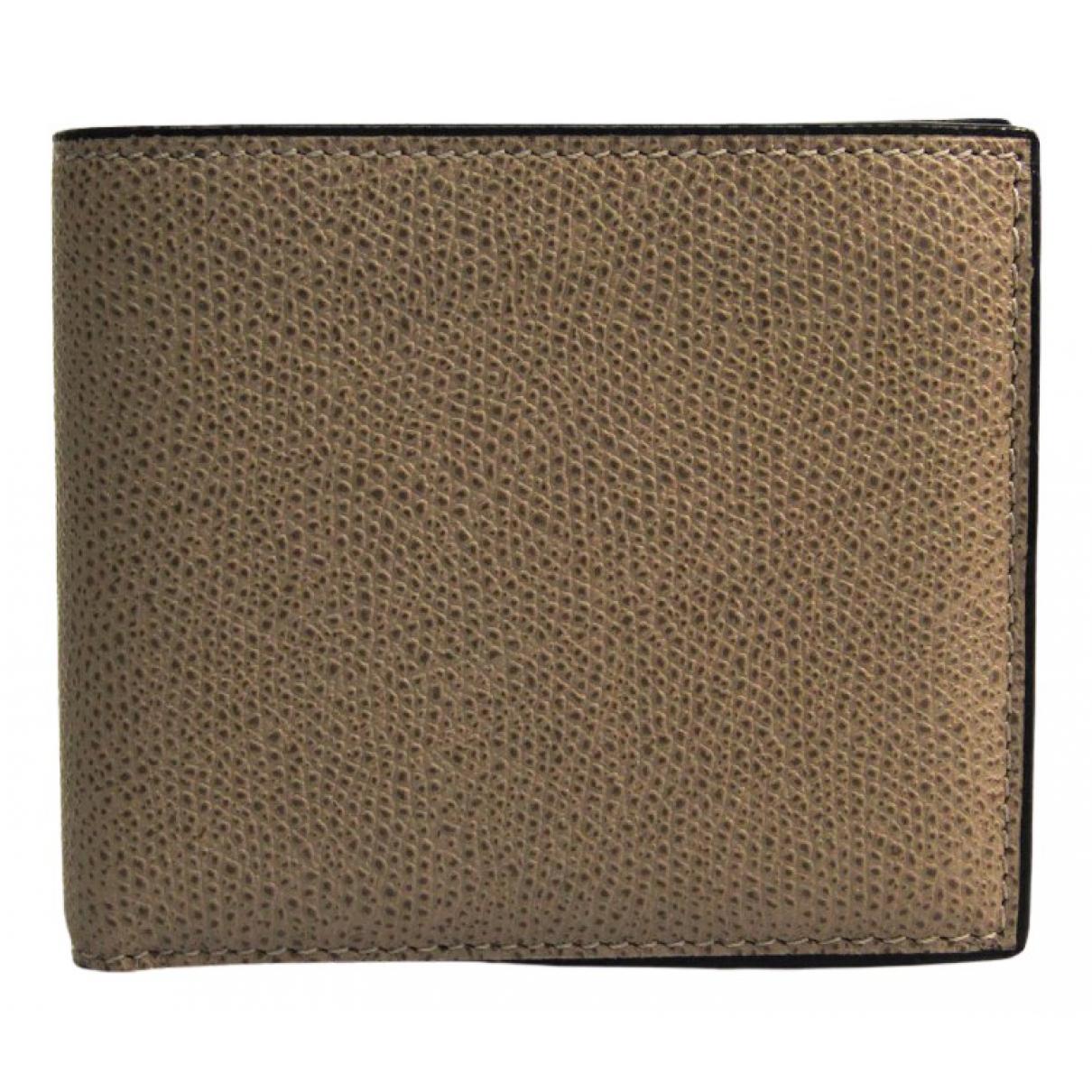 Valextra - Portefeuille   pour femme en cuir - gris