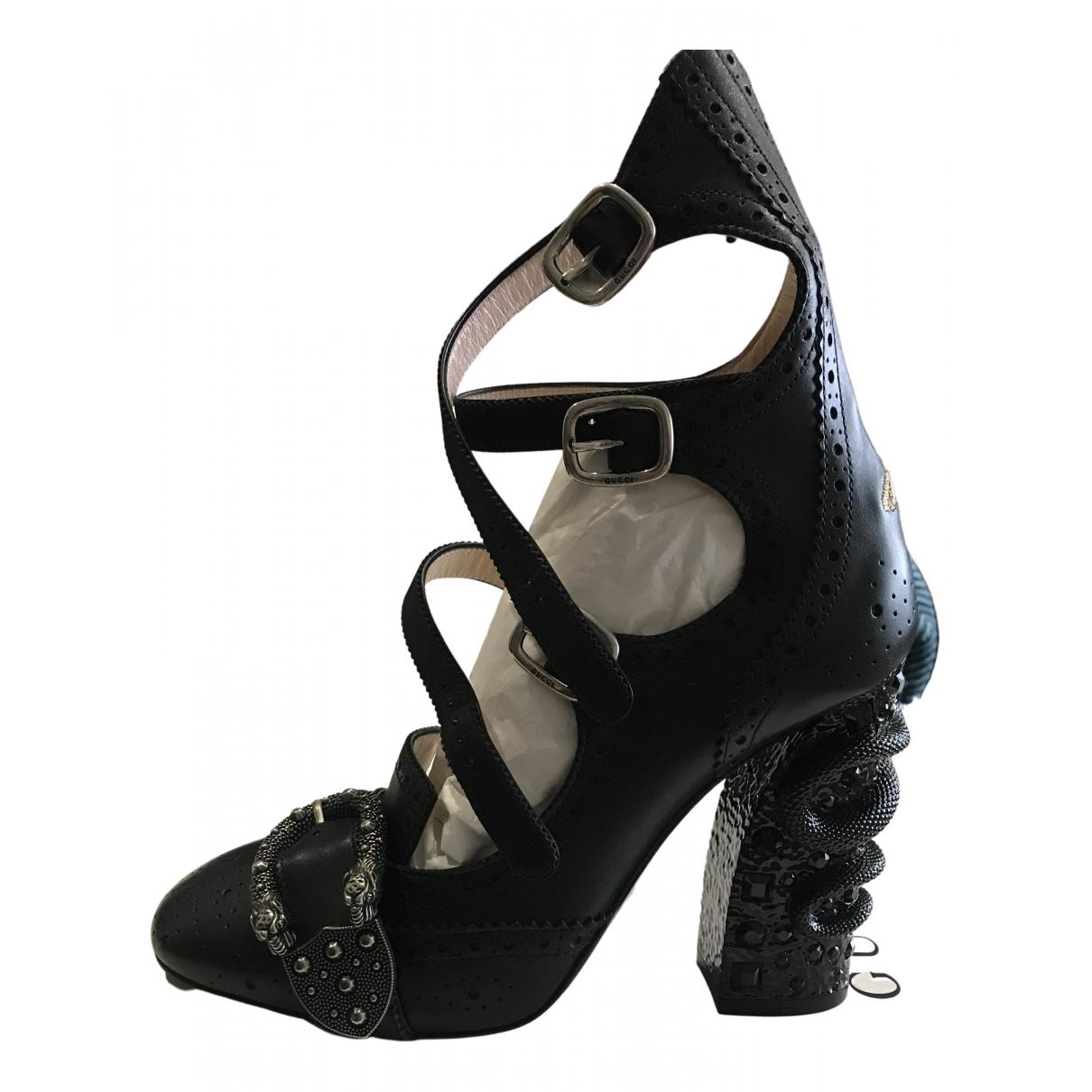 Gucci - Escarpins Queercore pour femme en cuir - noir