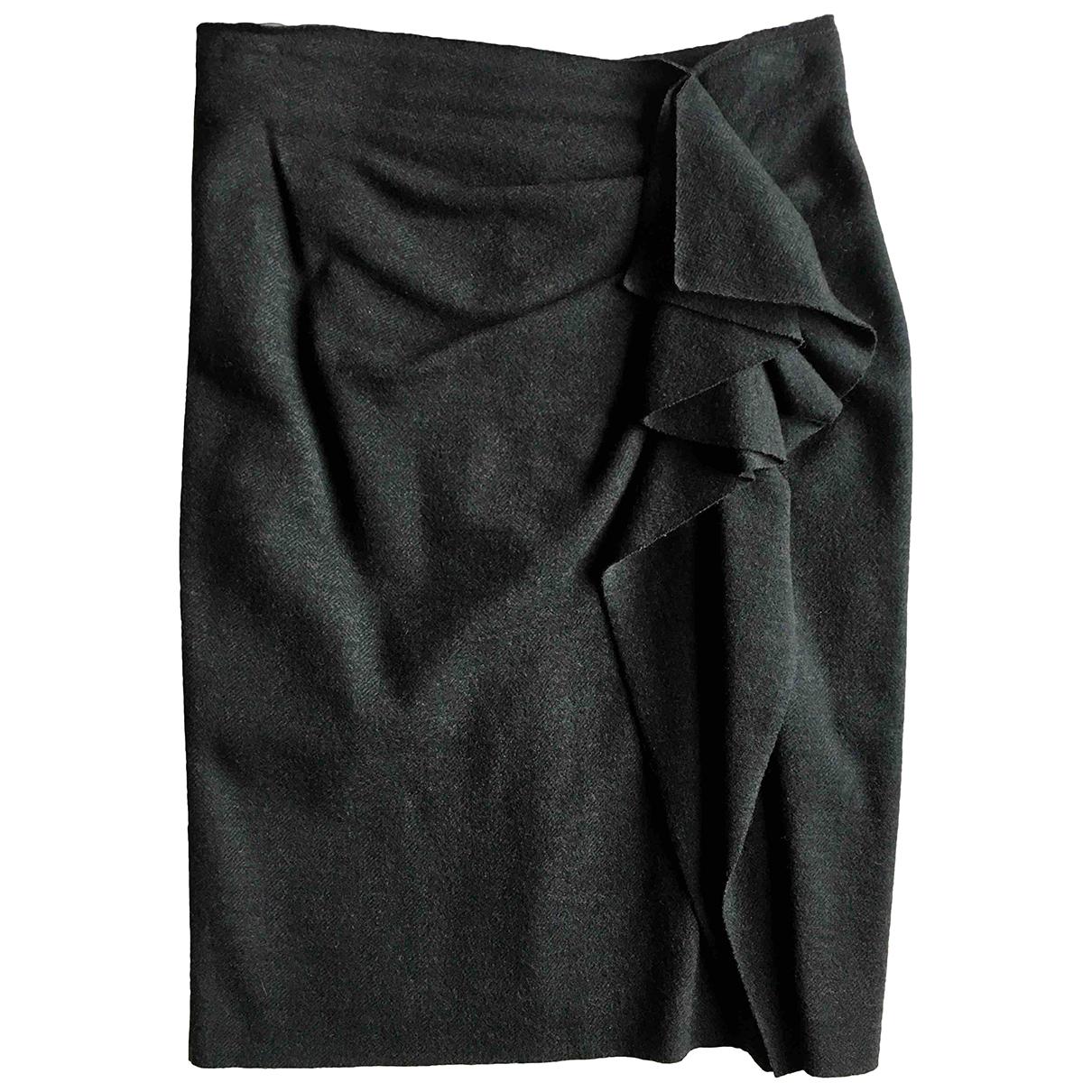 Max Mara N Grey Wool skirt for Women 46 IT