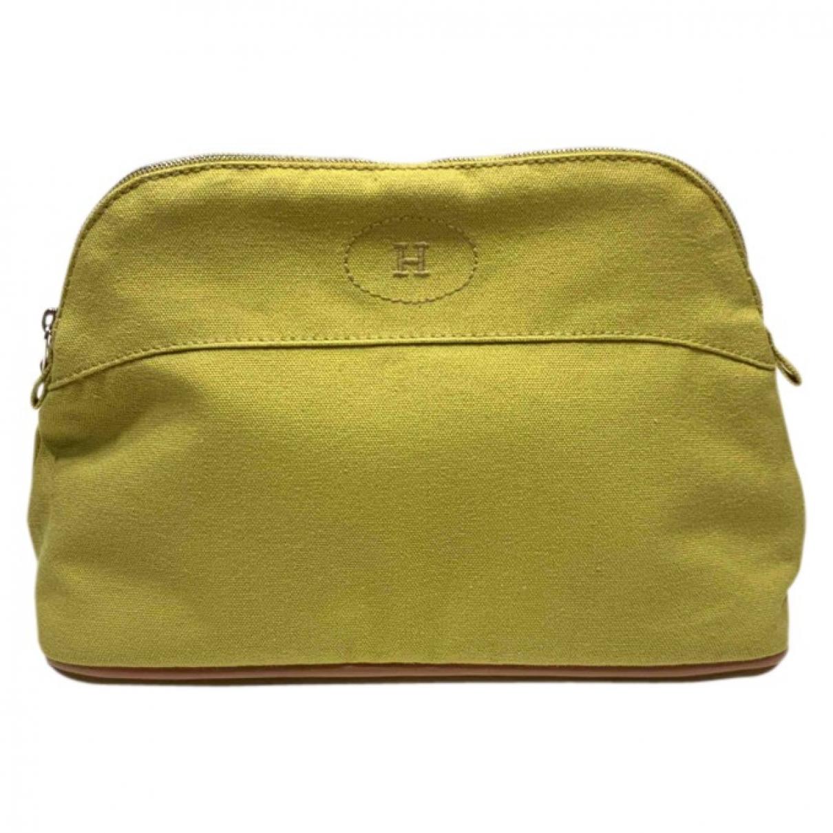 Hermes \N Reisetasche in  Gelb Baumwolle
