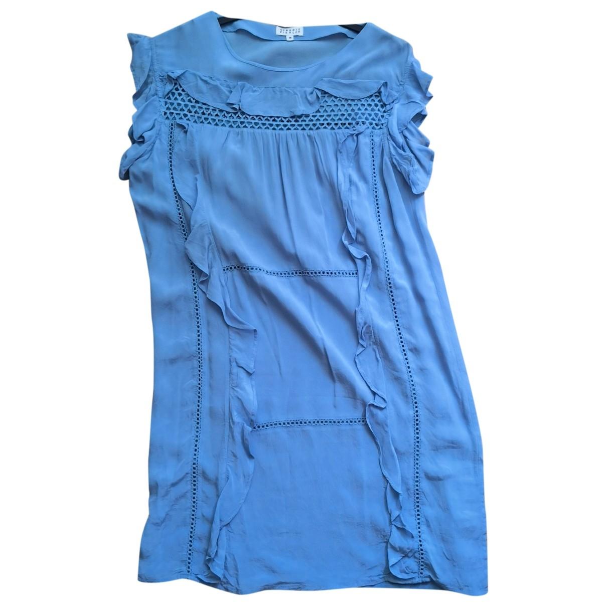 Claudie Pierlot \N Kleid in  Blau Baumwolle - Elasthan