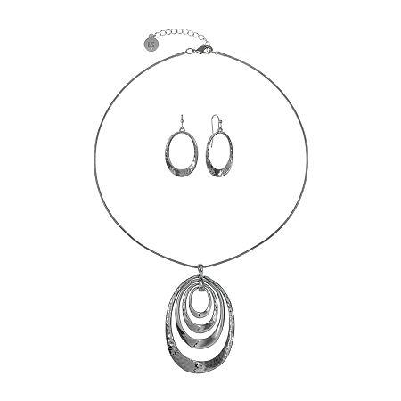 Liz Claiborne 2-pc. Jewelry Set, One Size , Gray