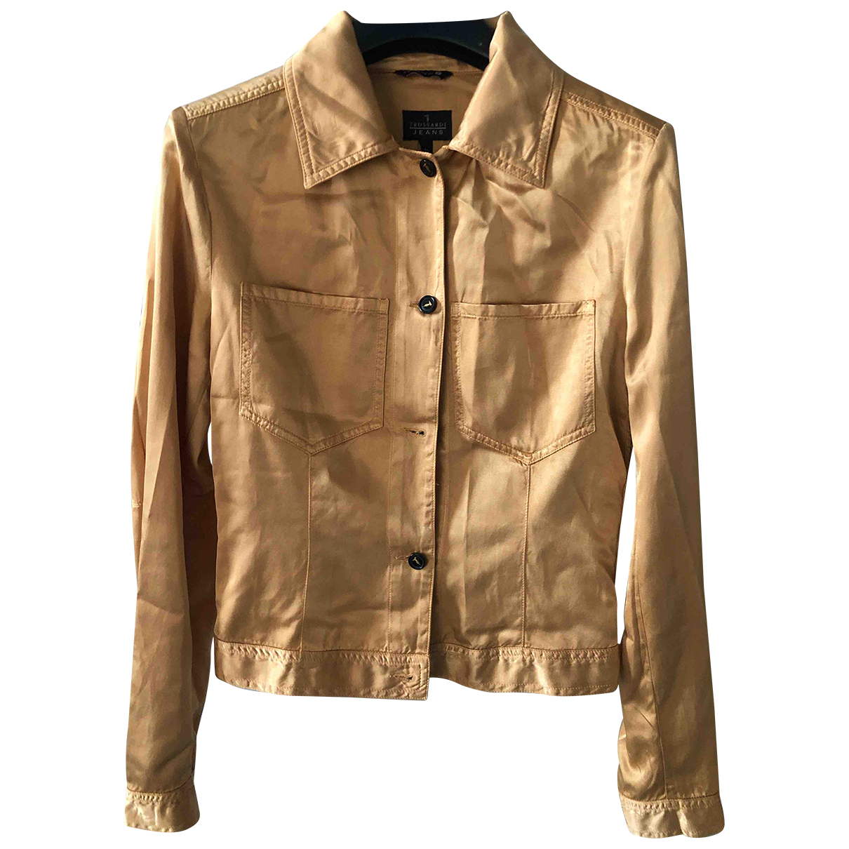 Trussardi Jeans \N Jacke in  Gold Viskose
