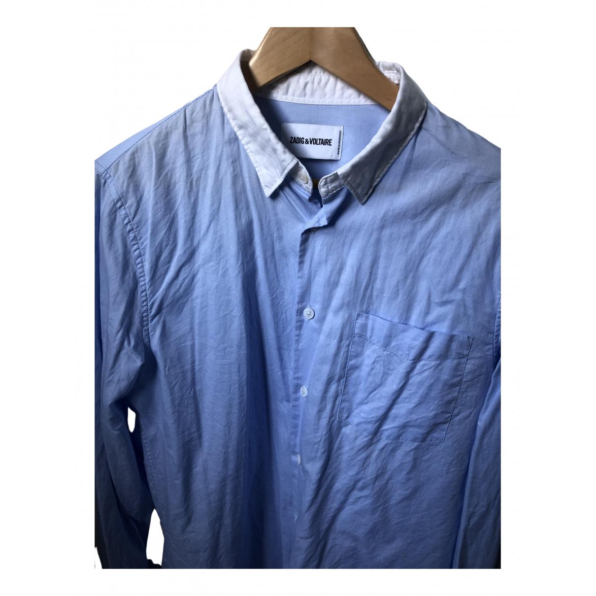 Zadig & Voltaire Spring Summer 2019 Hemden in  Blau Baumwolle