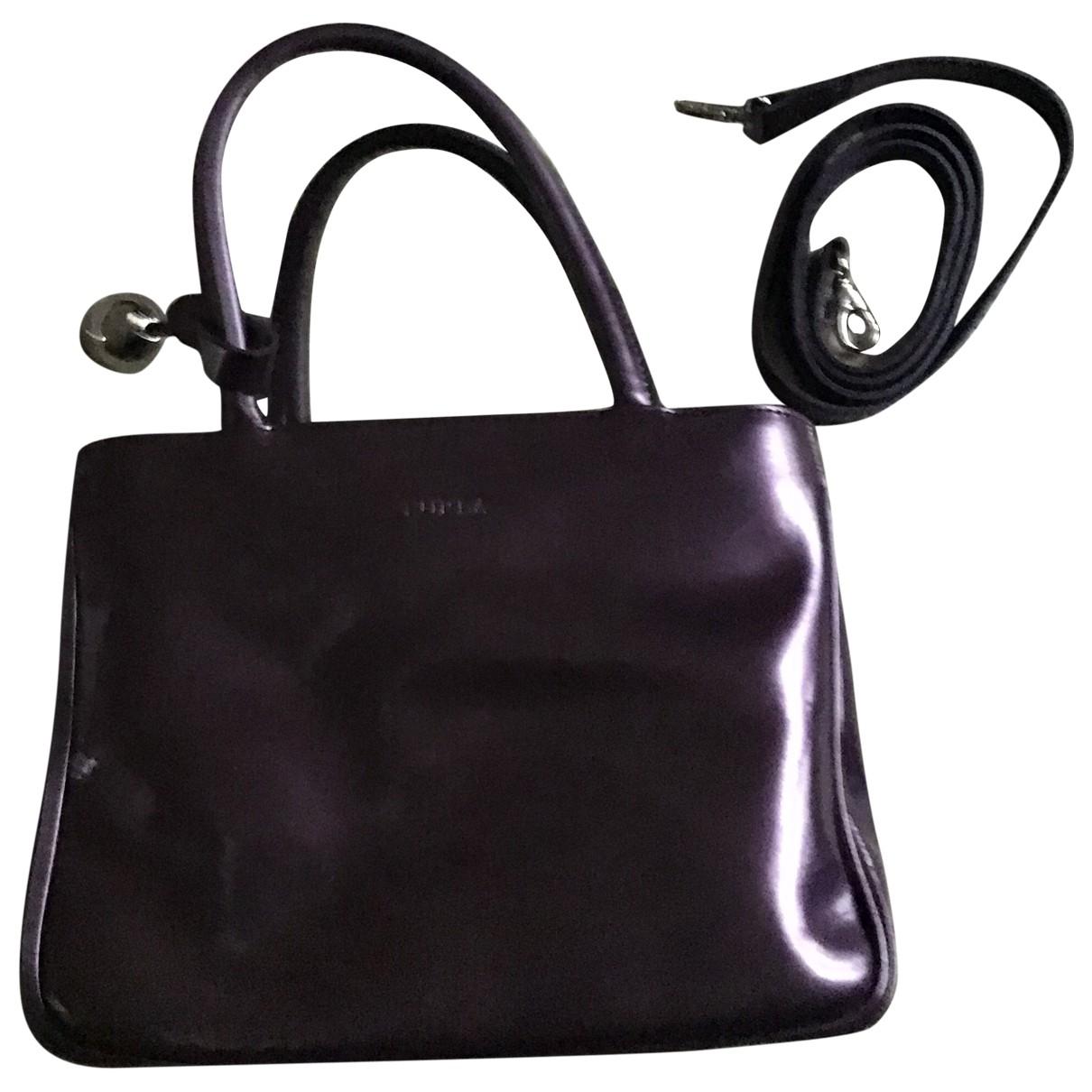 Furla - Sac a main   pour femme en cuir verni - violet