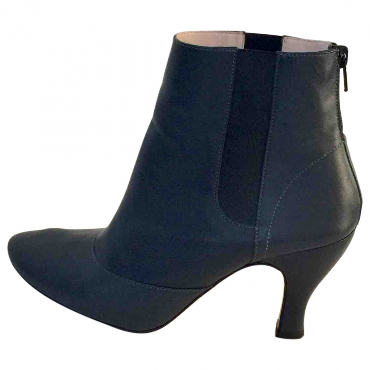 Repetto \N Grey Leather Ankle boots for Women 37 EU