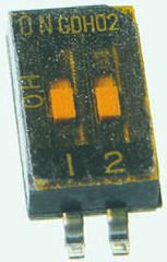 TE Connectivity 2 Way Surface Mount DIP Switch SPST, Rocker Actuator