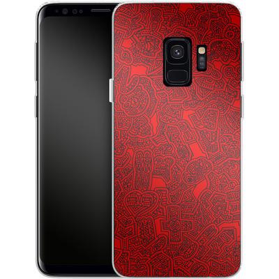 Samsung Galaxy S9 Silikon Handyhuelle - Red Black von Mattartiste