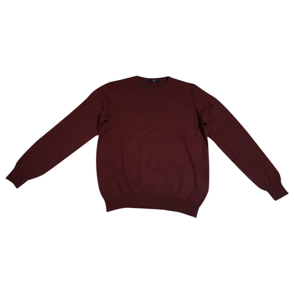 Fay \N Burgundy Wool Knitwear & Sweatshirts for Men 48 IT