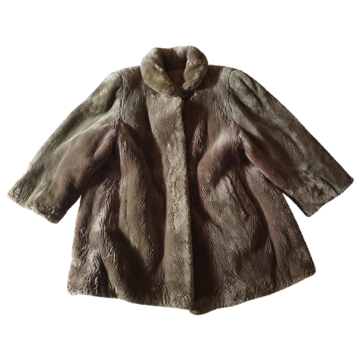 - Manteau   pour femme en mouton - ecru