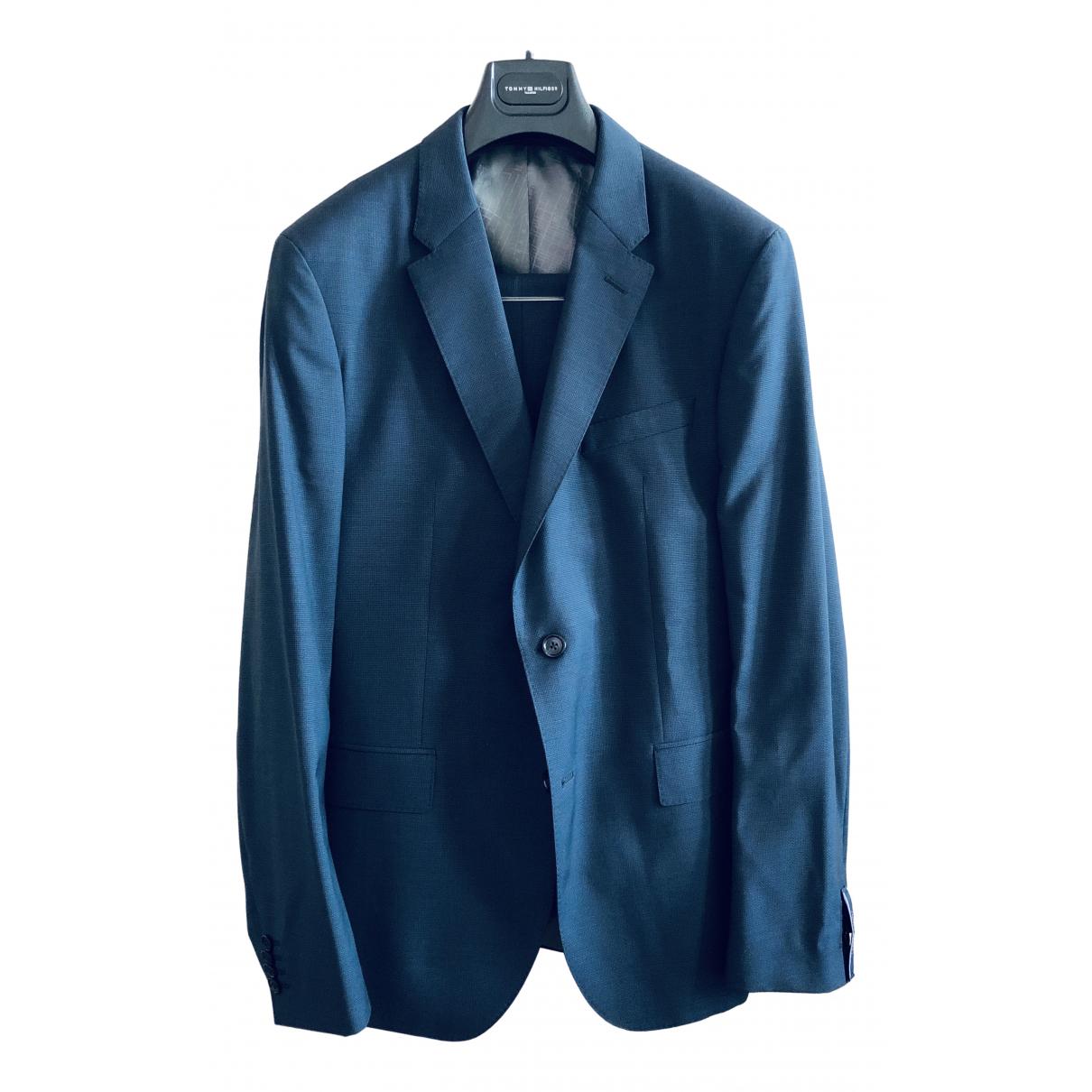 Tommy Hilfiger - Costumes   pour homme en coton - marine