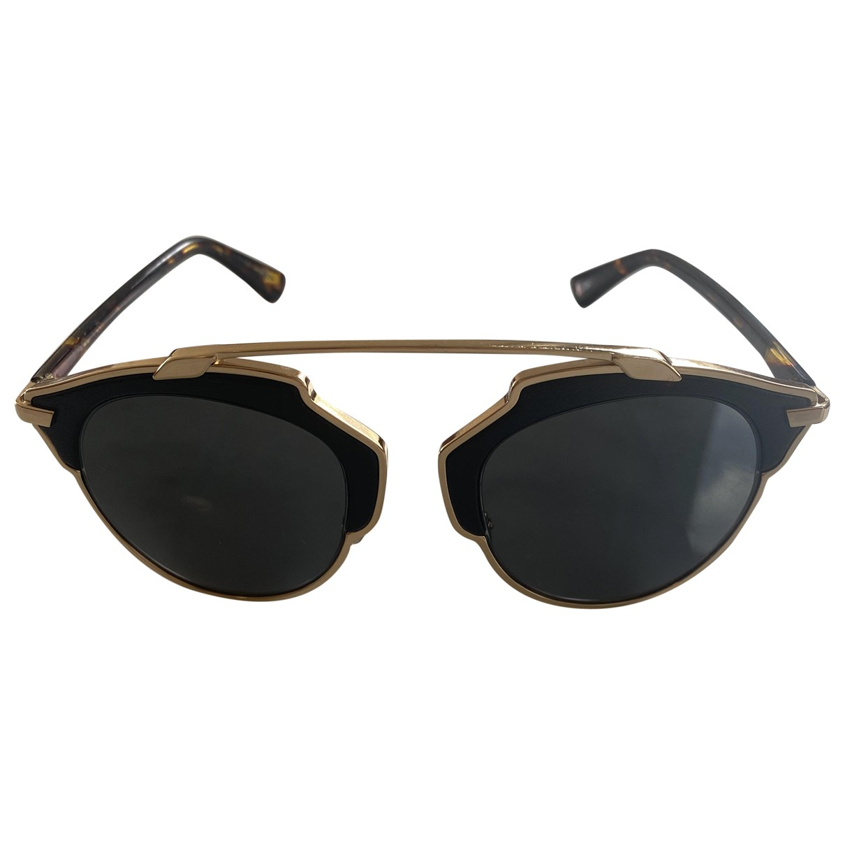 Dior So Real  Black Leather Sunglasses for Men \N