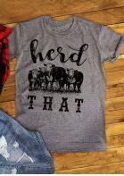 Herd That Cow Short Sleeve T-Shirt
