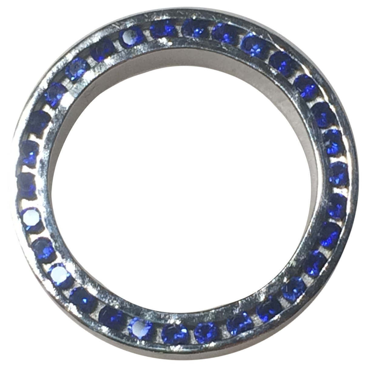 Non Signe / Unsigned Saphir Ring in  Weiss Weissgold