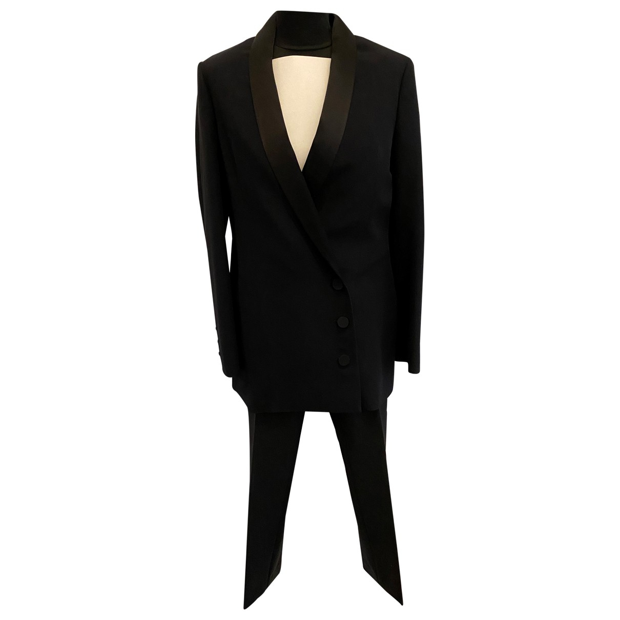Dior \N Black Silk Trousers for Women 40 FR