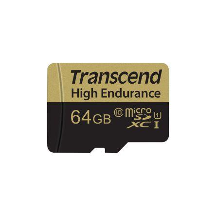 Transcend 64 GB MicroSDHC, MicroSDXC Card Class 10, UHS-I U1