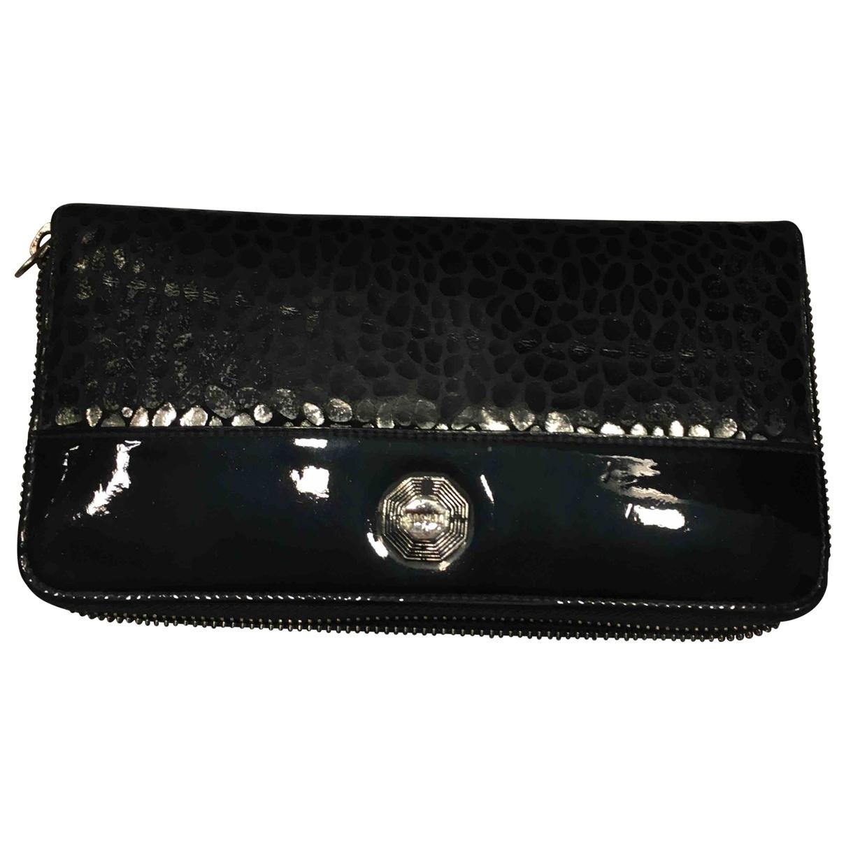 Versus \N Portemonnaie in  Schwarz Leder