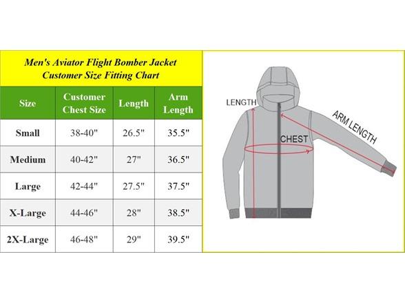 Mens Aviator Flight Bomber Jackets