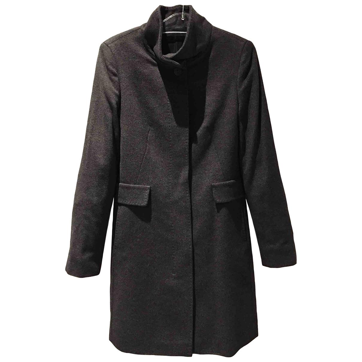 Max Mara - Manteau   pour femme en laine - anthracite