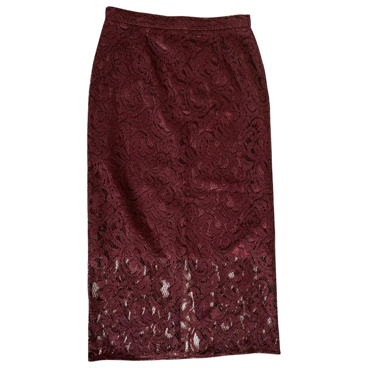 Gaelle Paris \N Burgundy Cotton skirt for Women 0 0-5
