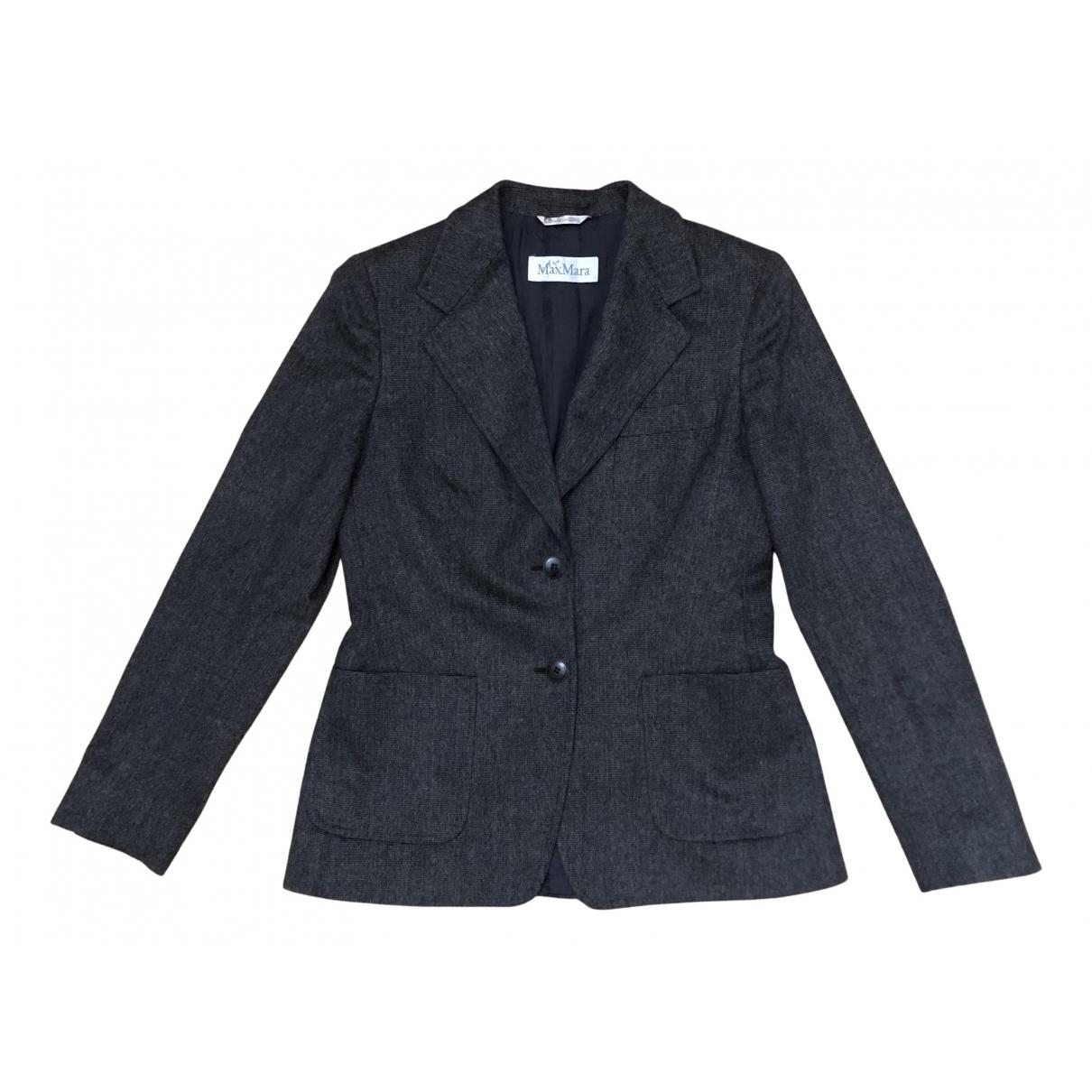 Max Mara N Grey Wool jacket for Women 42 FR