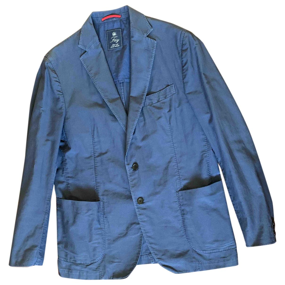 Fay - Vestes.Blousons   pour homme en coton - bleu