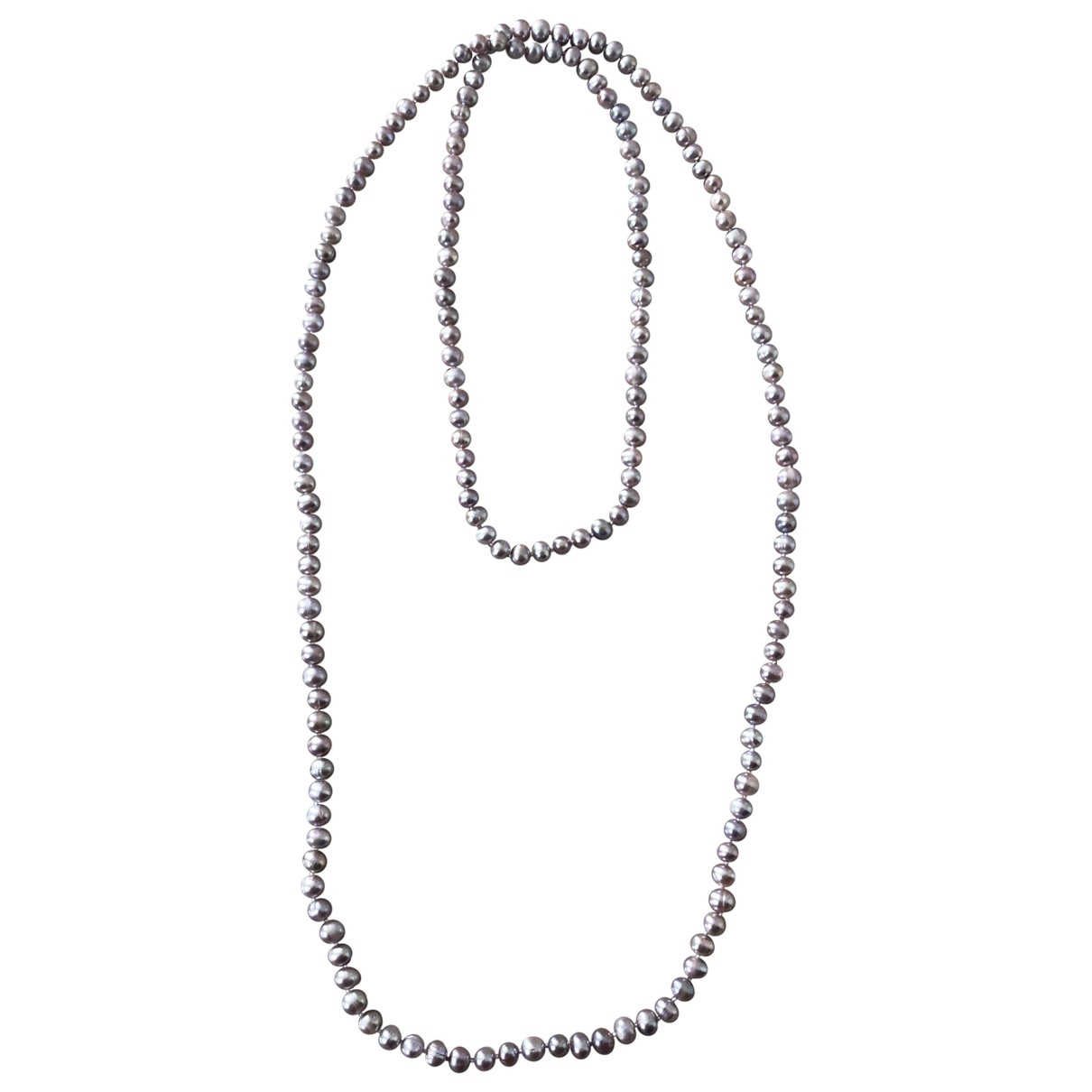 Non Signé / Unsigned \N Purple Pearls Long necklace for Women \N