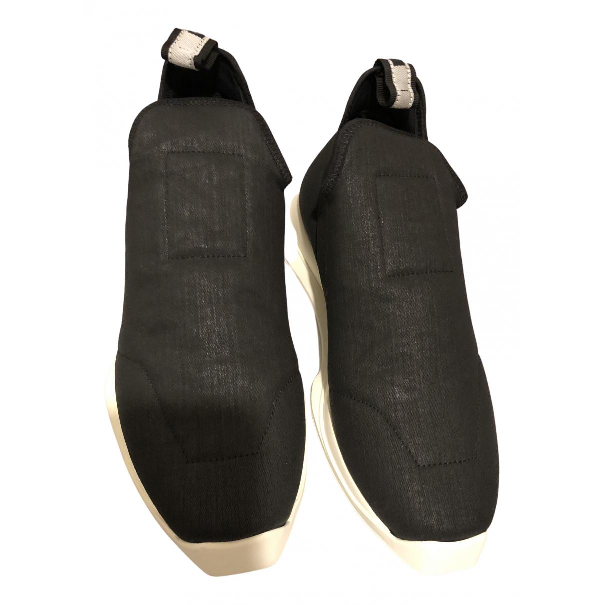 Rick Owens Drkshdw - Baskets   pour femme en toile - noir