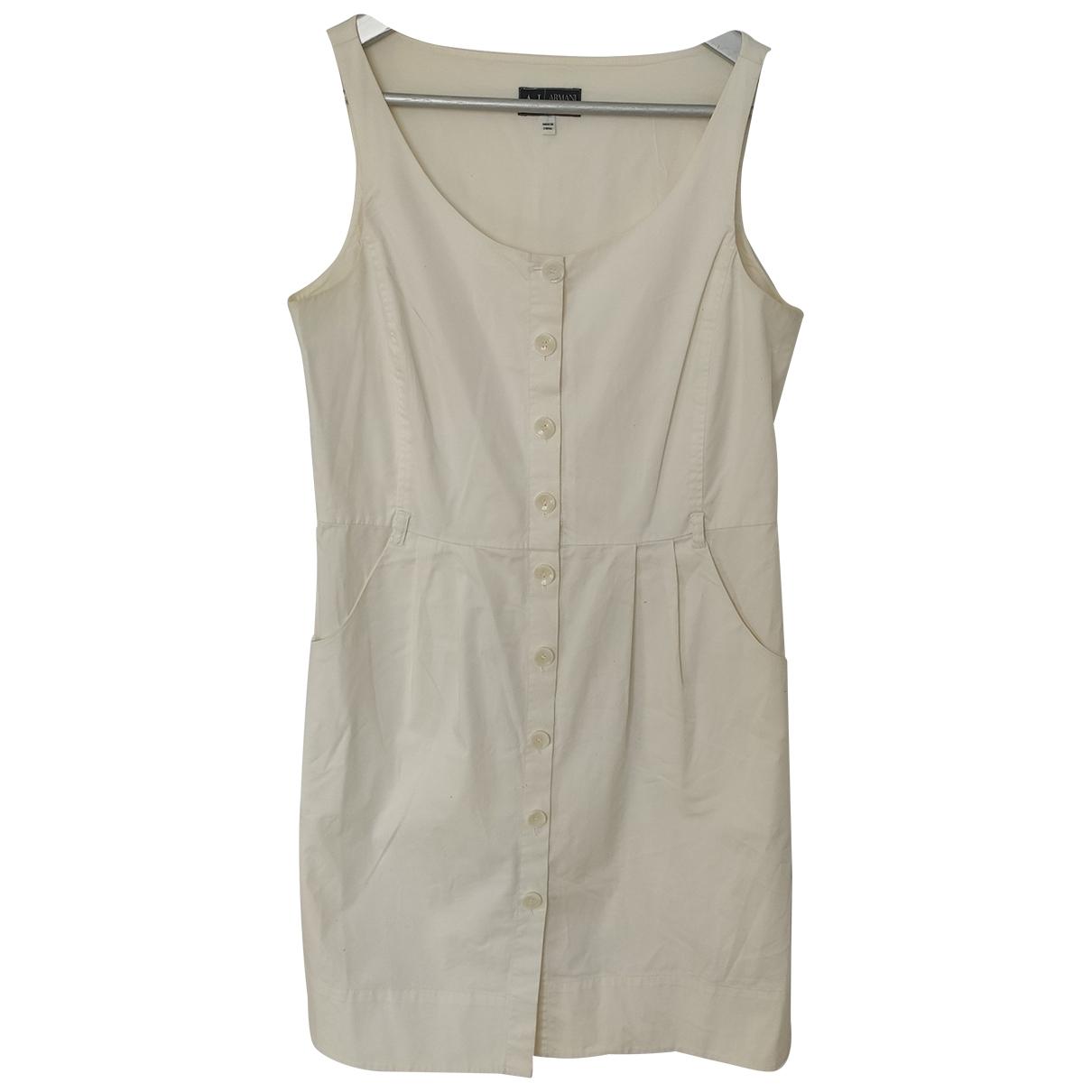 Armani Jeans \N White Cotton dress for Women L International