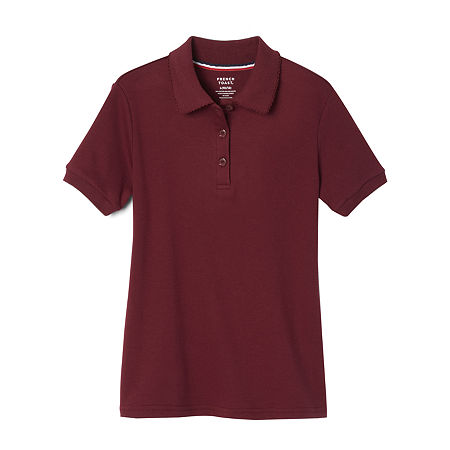 French Toast Toddler Girls Short Sleeve Polo Shirt, 4t , Red
