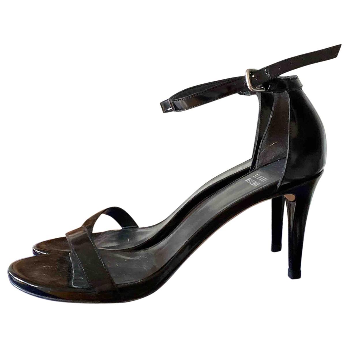 Stuart Weitzman N Black Patent leather Sandals for Women 38 EU