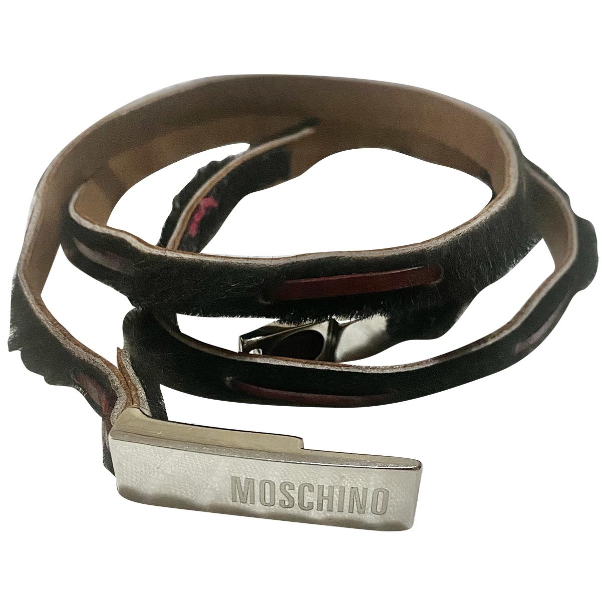Moschino - Ceinture   pour femme en cuir exotique - noir