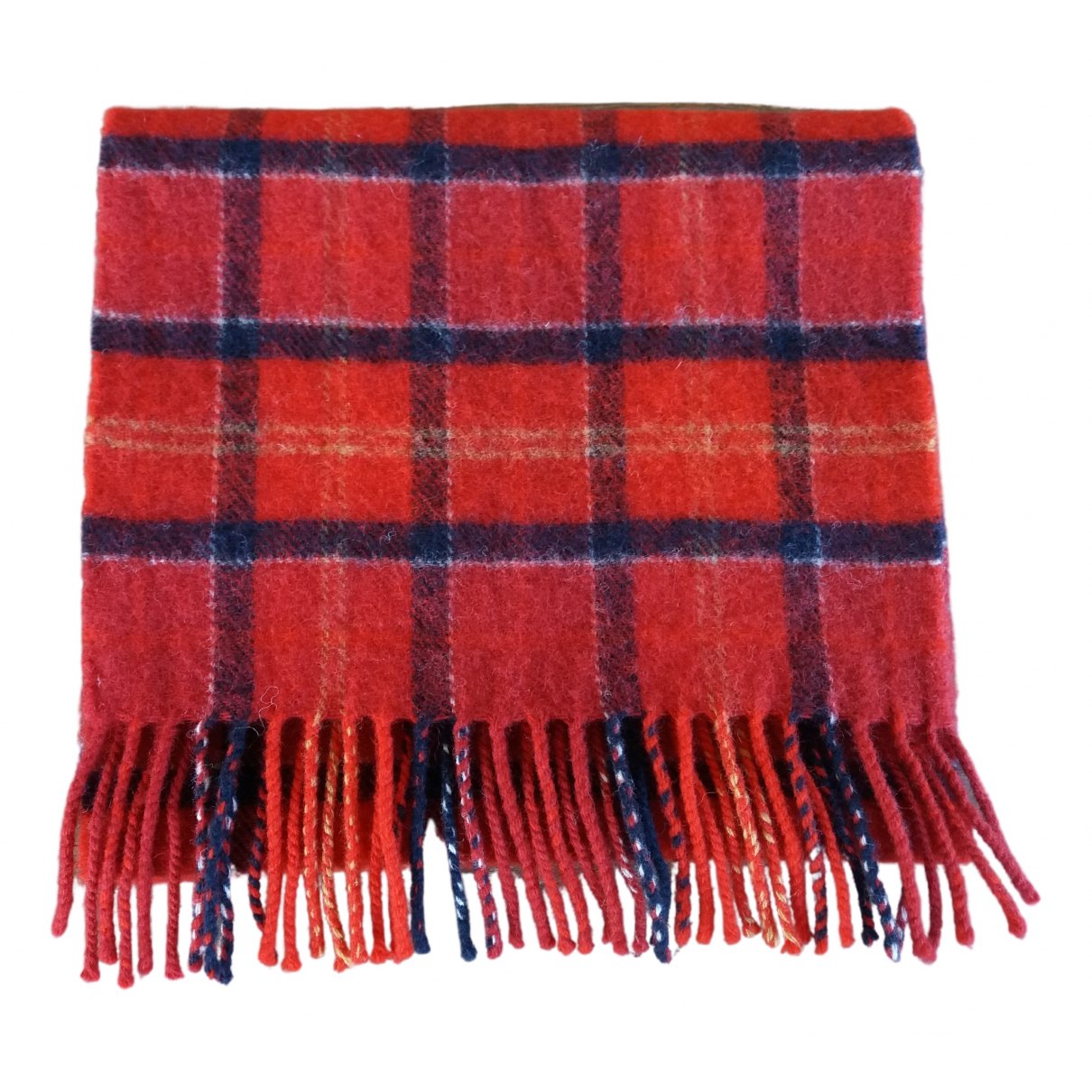 Barbour N Red Wool scarf & pocket squares for Men N