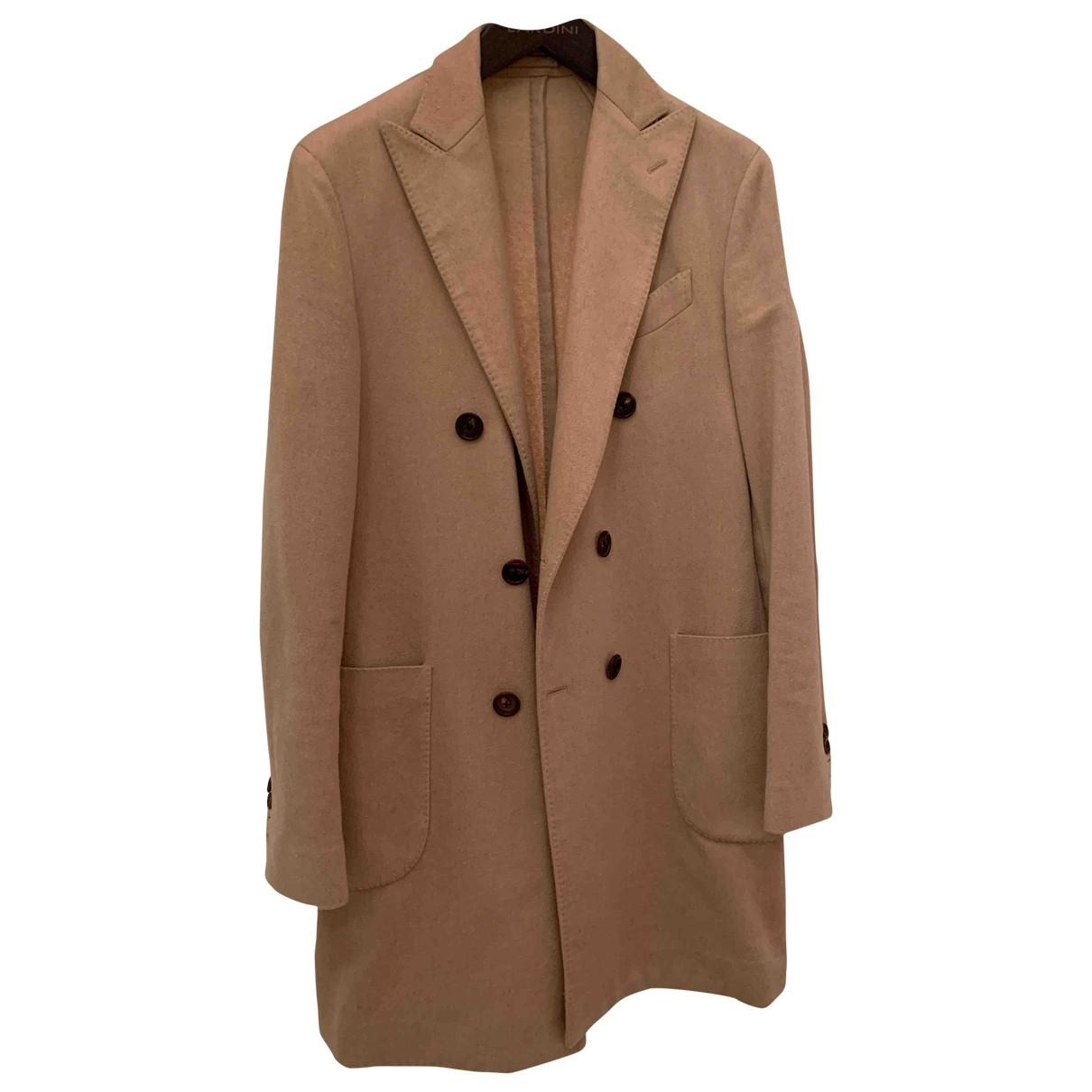 Lardini - Manteau   pour homme en cachemire - beige