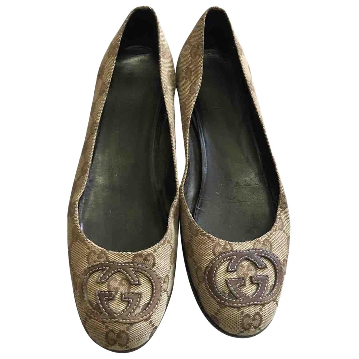 Gucci \N Brown Cloth Ballet flats for Women 38 EU