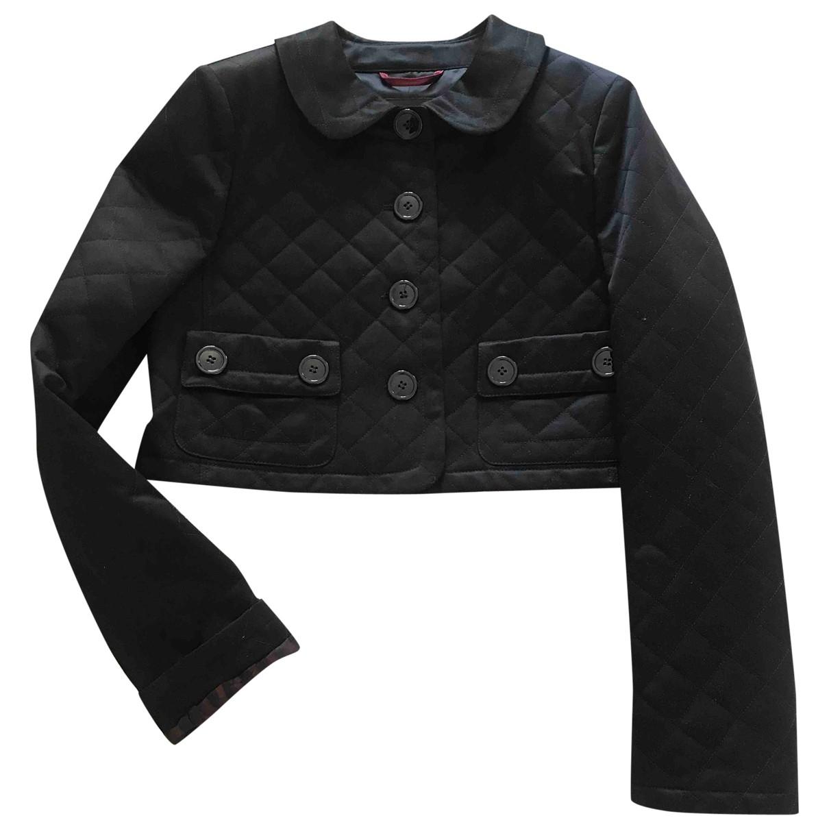 Burberry \N Black Cotton jacket for Women 44 IT