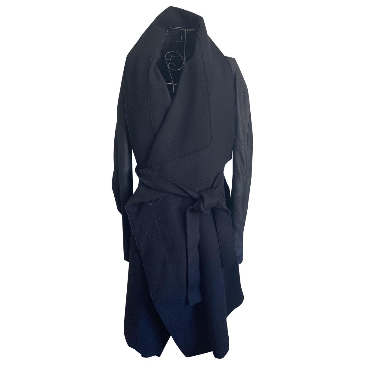 Isabel Benenato - Manteau   pour femme en laine - noir