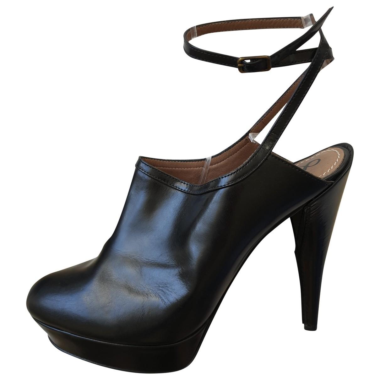 Lanvin - Boots   pour femme en cuir - noir