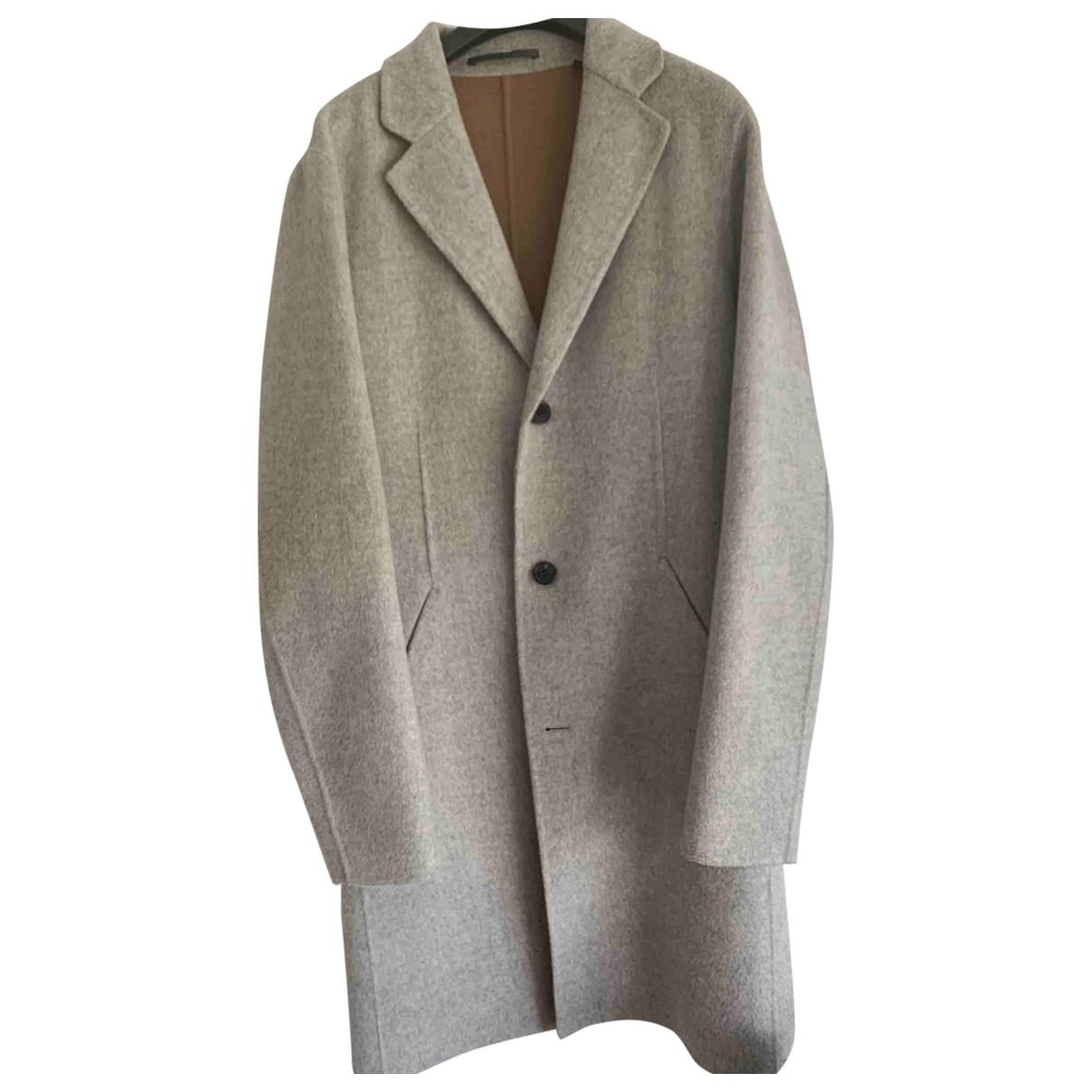 Theory - Manteau   pour homme en laine - gris