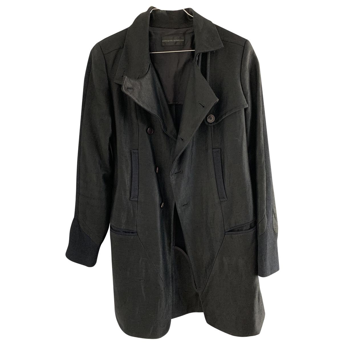 Zadig & Voltaire \N Black Linen Trench coat for Women M International