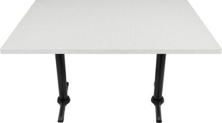 Q403 30X60-B10-0522H 30x60 Snow White Quartz Tabletop with 5x22 Semi-Gloss Bar Height