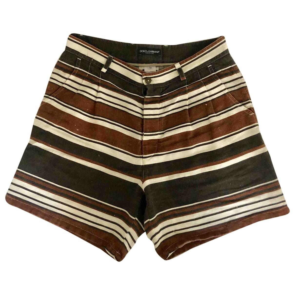 Dolce & Gabbana \N Linen Shorts for Men 50 IT