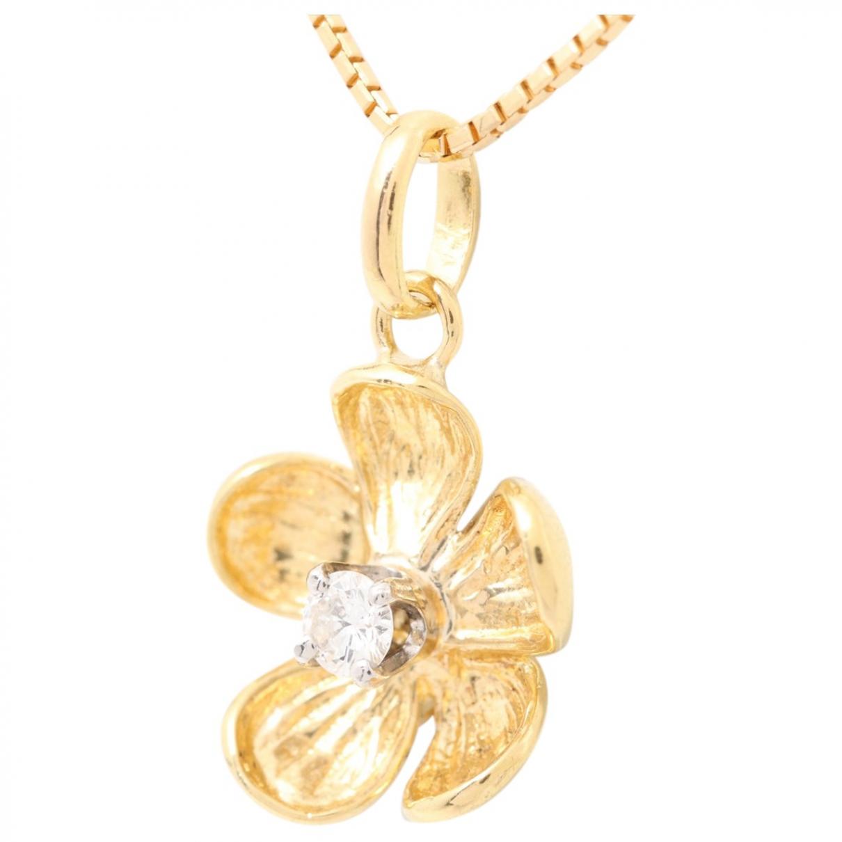 - Collier Motifs Floraux pour femme en or jaune - dore