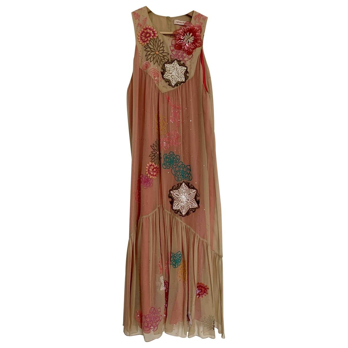 Matthew Williamson - Robe   pour femme en soie - rose
