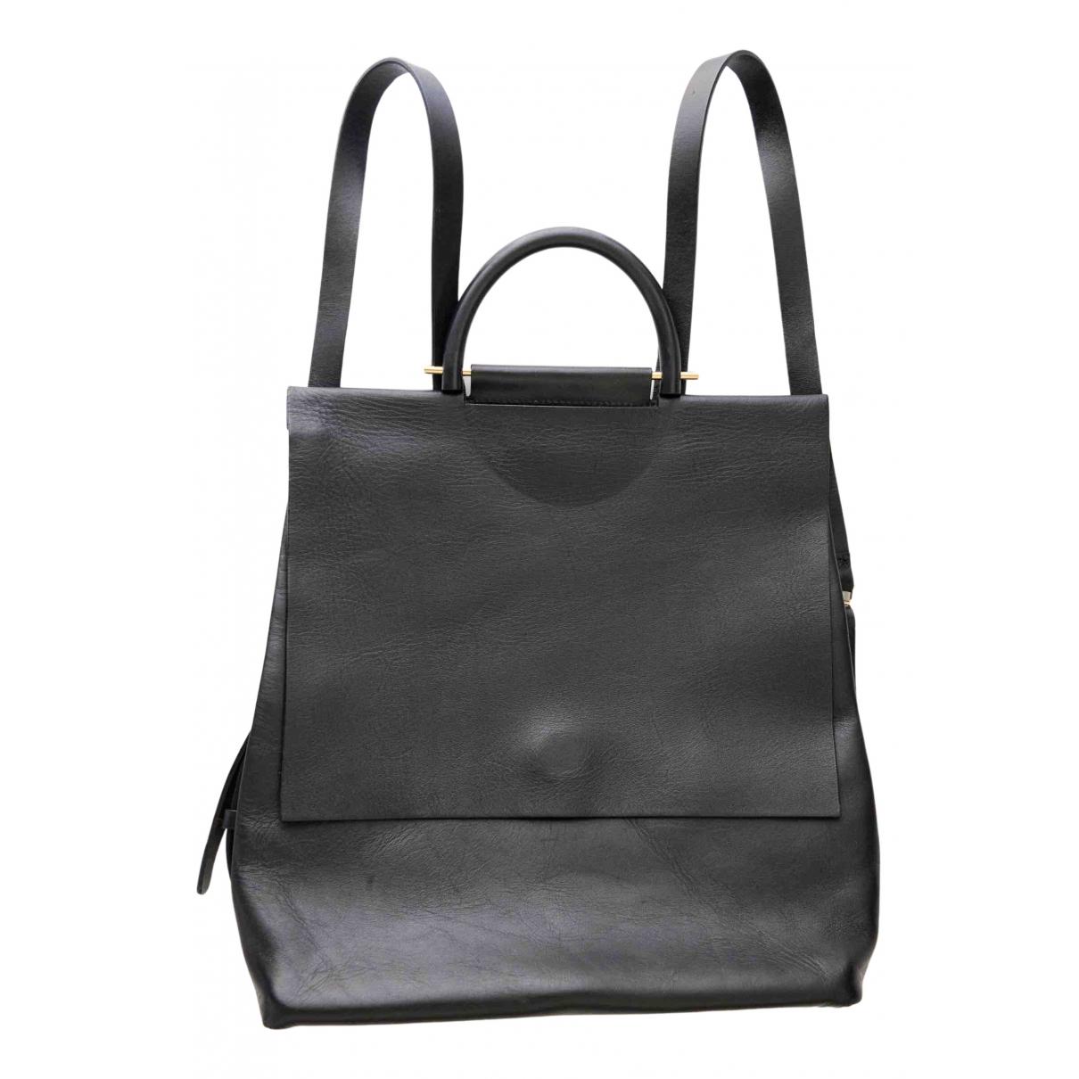 Building Block \N Black Leather backpack for Women \N