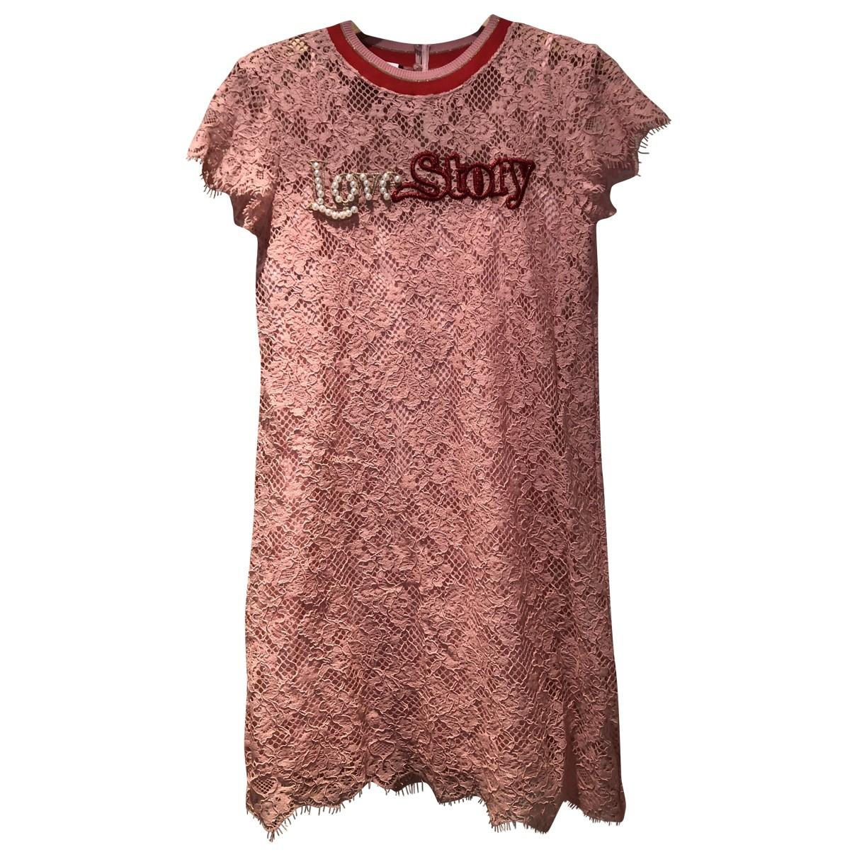 Pinko \N Pink Lace dress for Women 40 IT