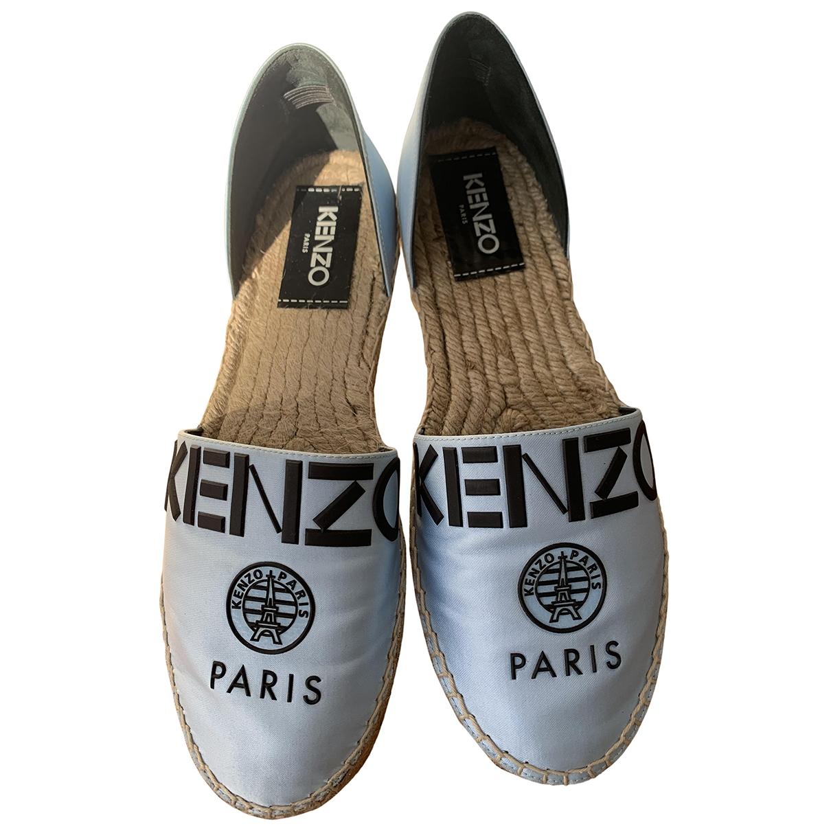 Kenzo - Espadrilles   pour femme en toile - bleu