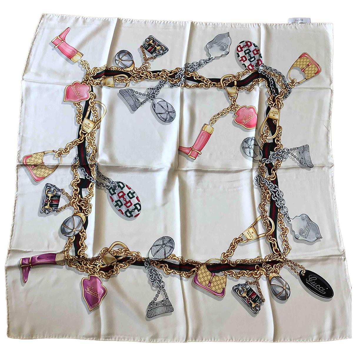 Gucci N Beige Silk scarf for Women N