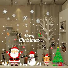 Wandaufkleber mit Weihnachten Muster